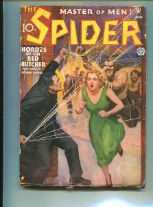 SPIDER JUNE 1935-POPULAR PUBLISHING-RED BUTCHER-VG-