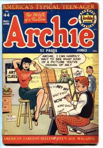 ARCHIE #44-Veronica spicy pose on cover-1950-g/vg