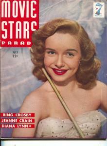 Movie Stars Parade-Diana Lynn-Glenn Ford-Bette Davis-July-1945