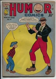 All Humor #4 1946-Quality-Atomic Tot-Kelly Poole-elusive issue-Hickory-VG-