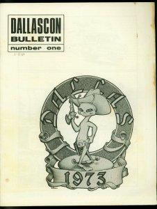 Dallascon Bulletin Fanzine 1969 #1 GEORGE BARR-ALEX TOTH VG