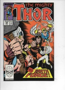THOR #395 VF/NM God of Thunder Earth Force 1966 1988, more Thor in store, Marvel