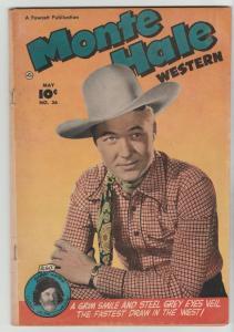 Monte Hale Western #36 (May-49) FN- Mid-Grade Monte Hale, Gabby Hayes