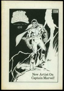 Comic Reader Fanzine #101 1973-  Captain Marvel cover FN