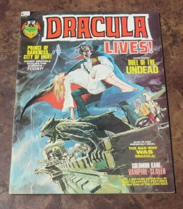 Dracula lives #3 VF- 1973 Horror Magazine Duel of the Undead Darkness Prince