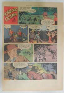 Hopalong Cassidy Sunday Page by Dan Spiegle from 3/28/1954 Size: 11 x 15 inches