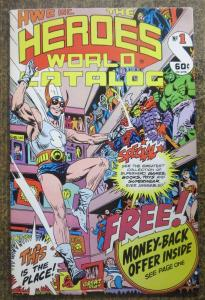 HEROES WORLD CATALOG #1 F-VF, JOE KUBERT COVER! subscription label