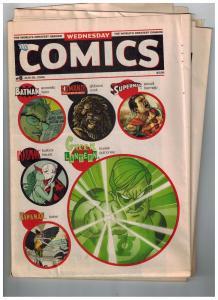Wednesday Comics # 8 2009 DC Comics Newspaper Superman Batman Green Lantern S87