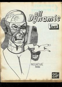 ALL DYNAMIC FANZINE #2--1969--RARE ALAN LIGHT EDITION- FN