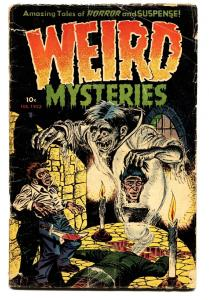 WEIRD MYSTERIES #3 1952-PRE-CODE HORROR-Dismemberment-Brutal!