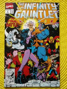 Infinity Gauntlet #6 (1991) Thanos,Nebula - Starlin story Lim art (Endgame)