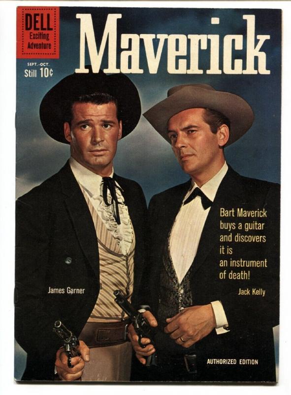 Maverick #12 1960- Dell TV Western- James Garner- Jack Kelly VF-