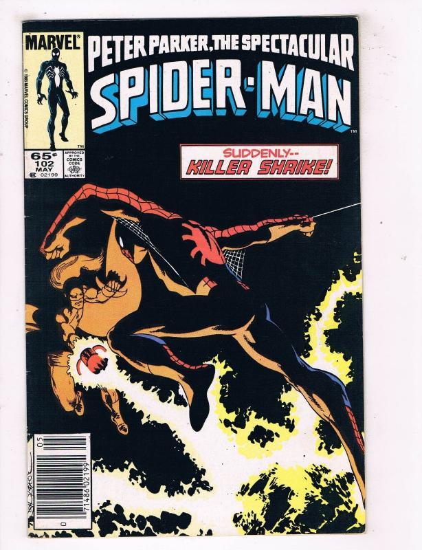 Peter Parker The Spectacular Spider-Man #102 FN/VF Marvel Comics Comic Book DE45