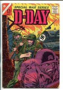 Special War Series D-Day Vol. 4 #1 1965-CHARLTON-1ST ISSUE-WWII-JUNE 6 1944-vg