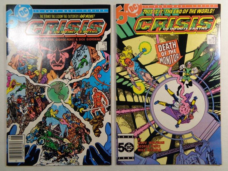 Crisis On Infinite Earths #1 2 3 4 5 6 9 10 11 DC 1985/86