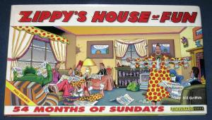 ZIPPY'S HOUSE of FUN, 54 months of Sundays, 1st, 1995, NM-, Hardcover book