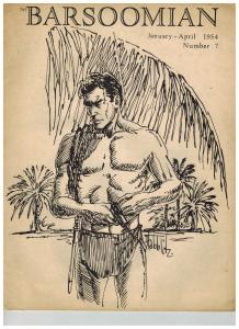 Barsoomian #7 January-April 1954 Burroughs Fanzine Dave Cockrum Tarzan Cover