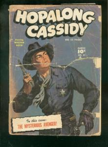 HOPALONG CASSIDY #41-1950-FAWCETT WESTERN-SAUNDERS COVR FR