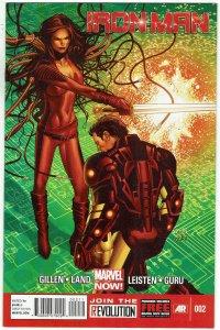 Iron Man #2 (2013 v5) Greg Land Cover NM