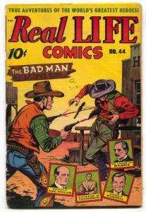 Real Life #44 1948-Schomburg cover- Dozsa G-