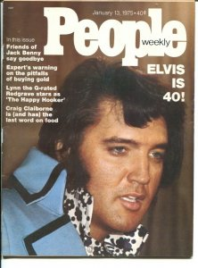 People Weekly 1/13/1975-Elvis Is 40-Jack Benny-Lynn Redgrave-Lucky Luciano-VG