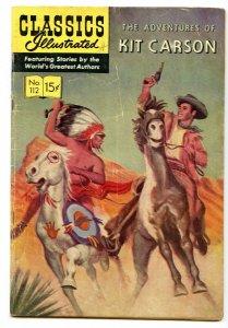 Classics Illustrated 112 (Original) Oct 1953 VG (4.0)