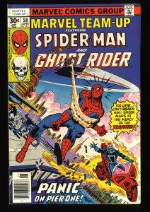 Marvel Team-up #58 NM+ 9.6 Spider-Man Ghost Rider!