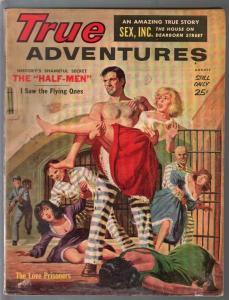 True Adventures 8/1960-prison break cover-John Leone-exploitation-VG-