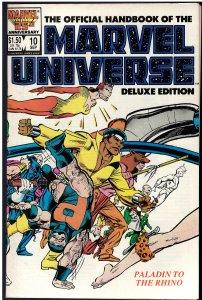 Official Handbook of the Marvel Universe #10 (Marvel, 1986)