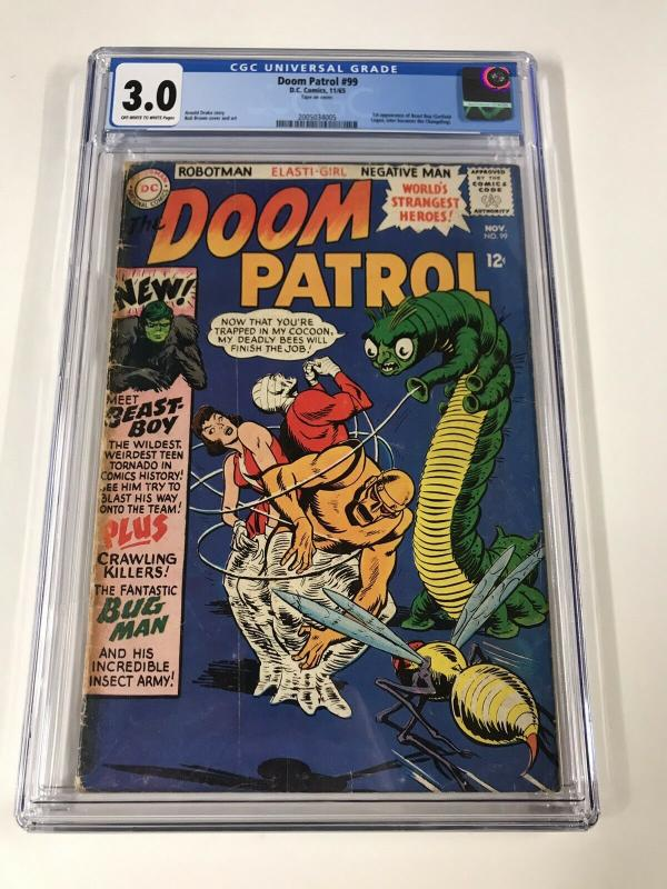 Doom Patrol 99 Cgc 3.0 Ow/w Pages 1st Chameleon Dc Silver Age