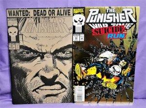 Marvel PUNISHER VARIANT COVER 2-Pack Punisher #57 War Zone #23 (Marvel, 1991)!