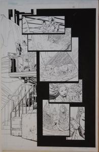 TALENT CALDWELL, JASON GORDER, original art, FATHOM #2, Double Splash pgs 11-12