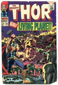 Thor Comics #133 1966 Marvel Silver Age EGO Living Planet reading copy