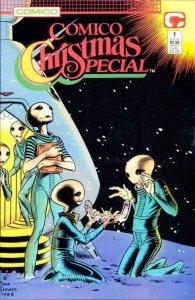 COMICO CHRISTMAS SPECIAL #1, VF/NM, Dave Stevens, 1988, Xmas