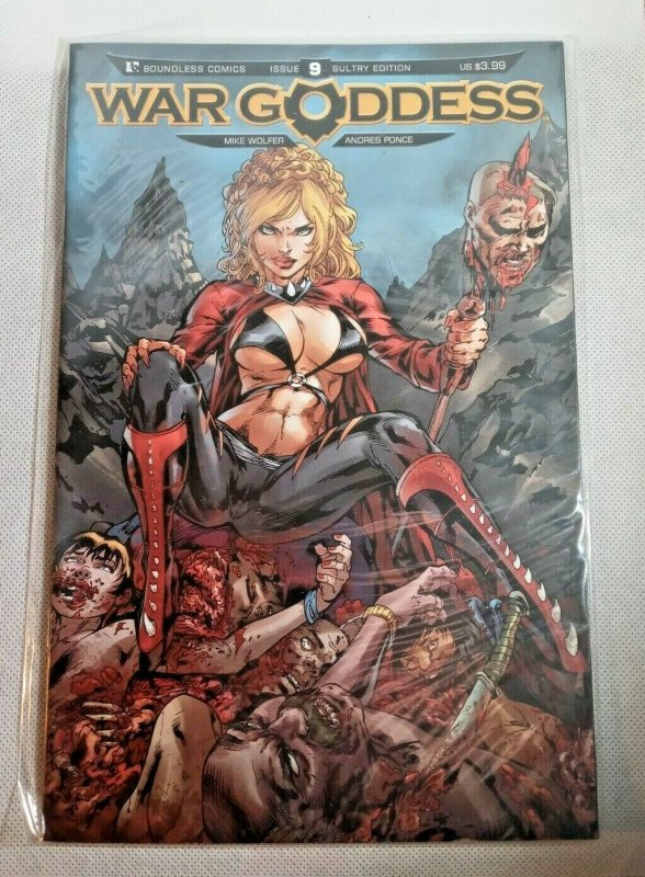 LOT OF 2 WAR GODDESS # 9 10 VARIANTS !! SEXY !! SULTRY !! 2011 MIKE WOLFER NM