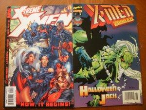 2 Near-Mint Marvel Comic: X-TREME X-MEN #1 & X-MEN 2099 A.D. #21 Halloween Jack