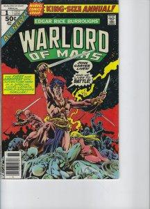 John Carter Warlord of Mars Annual #1 (1977)