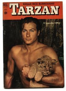TARZAN #22-1951-DELL-BURROUGHS-MARSH-LEX BARKER PHOTO COVER VF