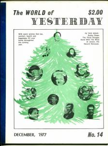 World of Yesterday #14 12/1977-3 Stooges-Al Jolson-Gone With The Wind-VG