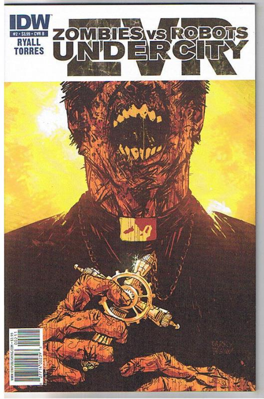 ZOMBIES vs ROBOTS UNDERCITY #2 B, NM+, 2011, IDW, Undead, more Horror in store