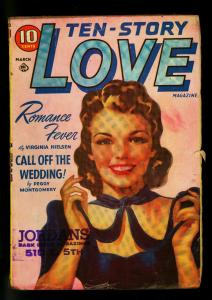 Ten-Story Love Pulp March 1941- Peggy Gaddis - Romance- VG