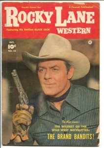 Rocky Lane Western #18 1950-Fawcett- B-Western movie star photo cover-VG