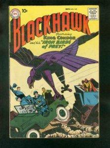BLACKHAWK COMICS #142 1959-DC COMICS-KING CONDOR-IRON BIRDS-fine FN