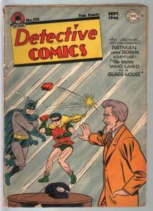 Detective # 115 1946-DC-Batman-Boy Commandos-Lee Harris-G/VG
