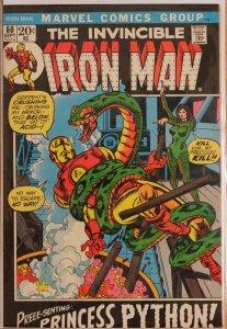 Iron Man #50 (1972) Very Fine+ 8.5 - 1st Princess Python