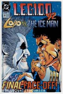 LEGION #38, NM+, Alan Grant, 1992, Lobo vs Ice Man, Boom, Palace of Pleasure