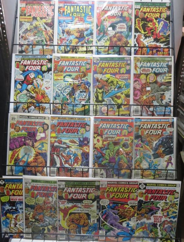 FANTASTIC FOUR by ROY THOMAS! 17 ISSUES bet. #157-183. Luke Cage! Galactus!