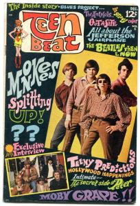 Teen Beat #1 1967- DC rock and roll comic- Monkees- Beatles- Rare FN-