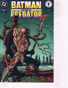 Lot Of 2 DC Comic Books Batman Versus Predator #11 and Aftershock Batman #55 ON2