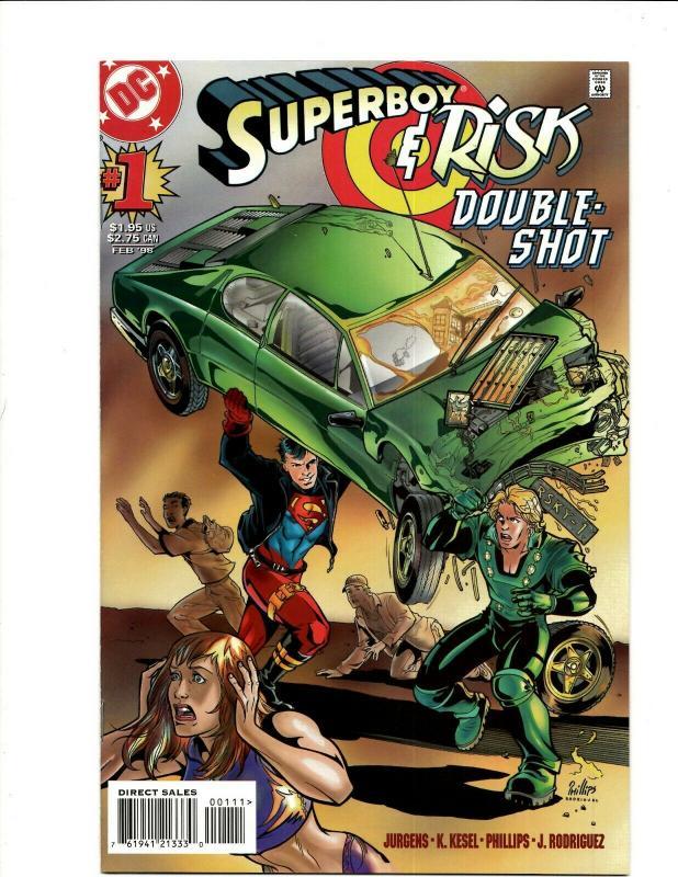 Lot Of 9 Comics Superboy 0, 1, 8, Risk,Shazam)Suicide Squad#2 9 Star Trek 4 JF17
